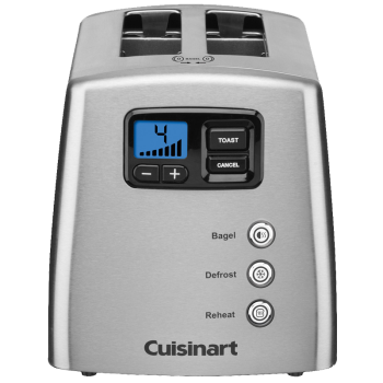 Cuisinart® Countdown Lever-Less 2-Slice Toaster