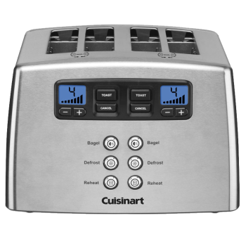 Cuisinart® Countdown Lever-Less 4-Slice Toaster
