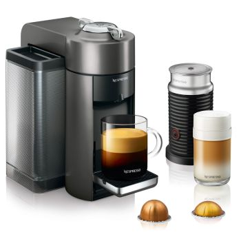 Nespresso Vertuo Coffee and Espresso Machine with Aeroccino -  Graphite Metal