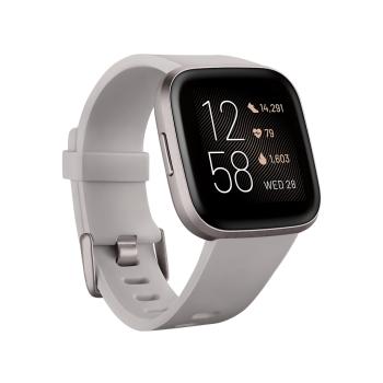 Fitbit Versa 2 Smartwatch – Stone/Mist Grey Aluminum