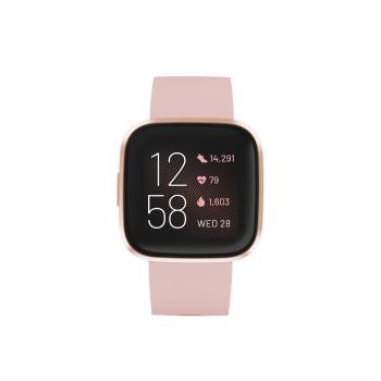 Fitbit Versa 2 Smartwatch – Petal/Copper Rose Aluminum