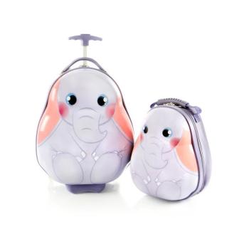 HEYS® Travel Tots Lightweight 2-Piece Kids Luggage and Backpack Set - Elephant