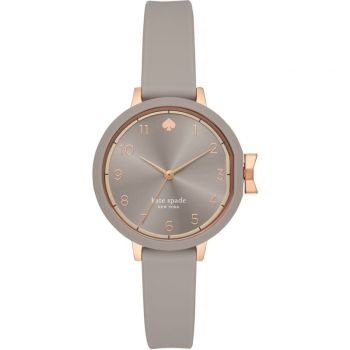 Kate Spade New York Park Row Gray Silicone Strap Watch