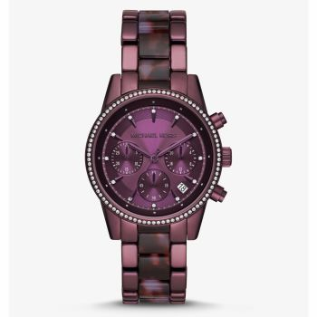 Michael Kors Ritz Pavé Lavender-Tone Watch