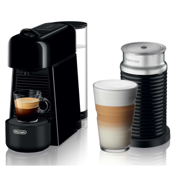 Nespresso Essenza Plus Machine with Aeroccino by De'Longhi - Piano Black
