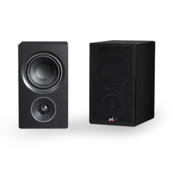 PSB Alpha P3 Bookshelf Speaker - Black Ash Woodgrain - Set of 2