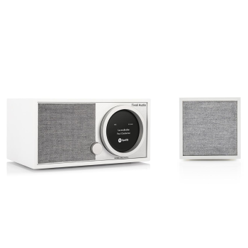 Tivoli Model One Digital Wi-Fi Radio with Cube Wi-Fi Speaker Bundle - White/Grey