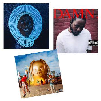 Hip-Hop's Brightest Stars Vinyl Records Bundle - Awaken My Love,Damn & Astroworld
