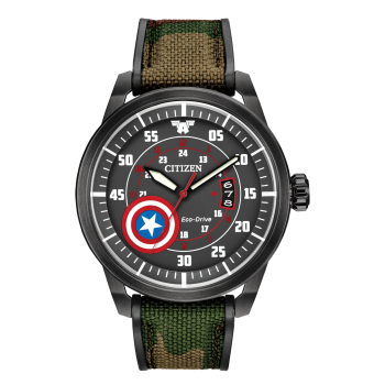 Citizen Marvel Captain America Eco-Drive Black Watch