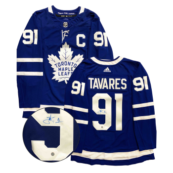 "Frameworth John Tavares Signed Jersey Toronto Maple Leafs Pro Adidas Blue with ""C"""