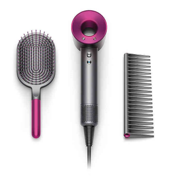 Dyson Supersonic Hair Dryer Fuchsia + Brush/Comb Kit