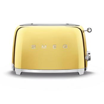SMEG 50's Retro Style Aesthetic 2-Slice Toaster - Gold