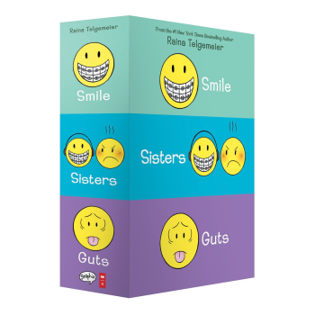 Smile, Sisters, and Guts: The Box Set by Raina Telgemeier