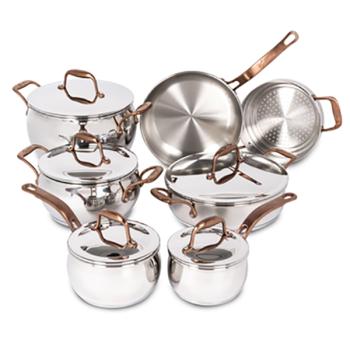 Lagostina® Bronze Elegance Stainless Steel 12-Piece Cookware Set