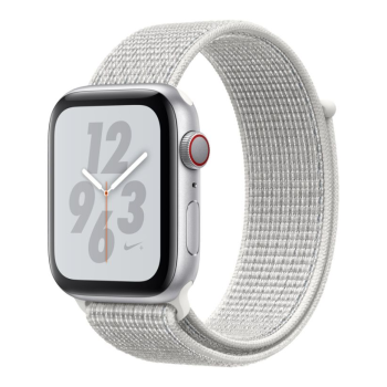 Apple Watch Nike+ Series 4 - Silver Aluminum Case with Summit White Sport Loop - 44mm - GPS + Cellular