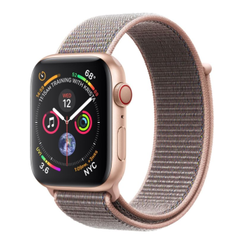 Apple Watch Series 4 - Gold Aluminum Case with Pink Sand Sport Loop - 40mm - GPS + Cellular
