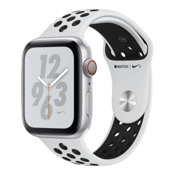 Apple Watch Nike+ Series 4 - Silver Aluminum Case with Pure Platinum/Black Sport Loop - 40mm - GPS + Cellular