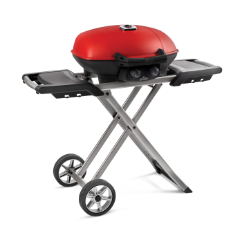 Napoleon TravelQ™ 285X Grill with Scissor Cart and Griddle - Red - Propane