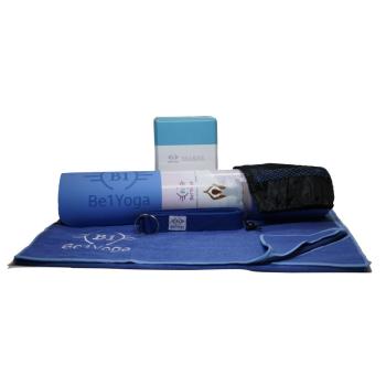 Be1Yoga 4-Piece Yoga Kit - Blue