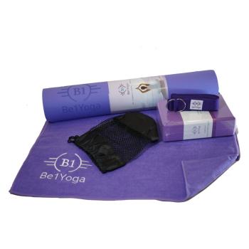 Be1Yoga 4-Piece Yoga Kit - Purple