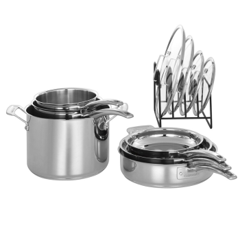 Cuisinart® 11-Piece Nesting Stainless Steel Cookware Set