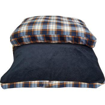 Danazoo Rachel Sherpa Top Rectangle Pet Bed - Blue Plaid