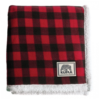 Kuma Lumberjack Sherpa Throw - 60'' x 70'' - Red/Black