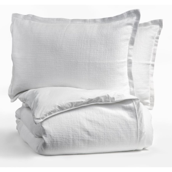 Dolce Bianca Camélia Duvet Cover and Shams - Snow - Double/Queen