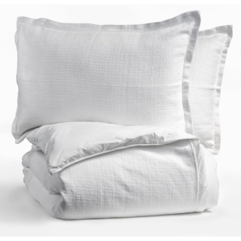 Dolce Bianca Camélia Duvet Cover and Shams - Snow - King