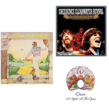 The Rock Classics Vinyl Collection - A Night Of The Opera, Goodbye Yellow Brick Road and Chronicle: Greatest Hits