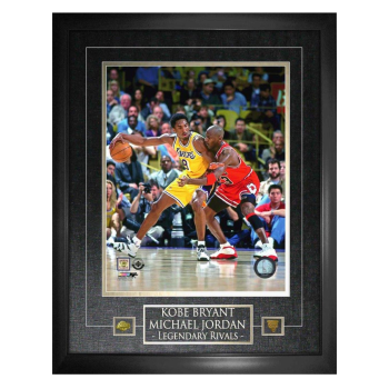 Frameworth Kobe Bryant / Michael Jordan 16x20 Framed Action Shot - Legendary Rivalry