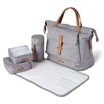 BabaBing Erin Tote Changing Bag - Grey