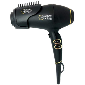 BaByliss PRO® Graphite + Titanium Ionic Hairdryer With Barrel Accessory