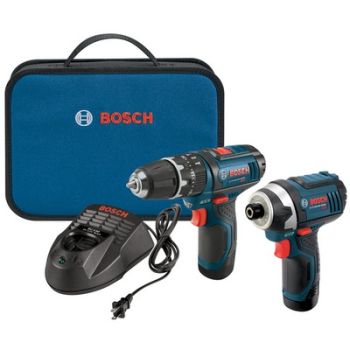Bosch CLPK241-120 12V Max 2-Tool Combo Kit with 3/8 In. Hammer Drill/Driver, Impact Driver and (2) 2.0 Ah Batteries