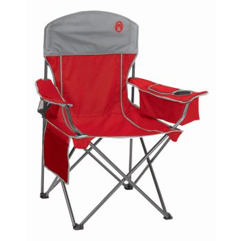 Coleman Cooler Quad Chair - Red/Gray