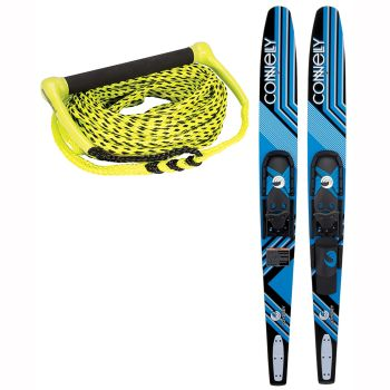 Connelly Quantum Adult Combo Skis with Connelly Sport Package Waterski Rope