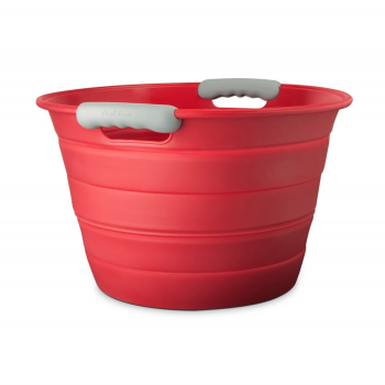 Final Touch® Collapsible Beverage Bin - Red