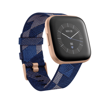 Fitbit Versa 2 Smartwatch Special Edition - Navy & Pink Woven / Copper Rose Aluminum