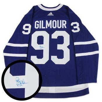 Frameworth Doug Gilmour Signed Toronto Maple Leafs Pro Adidas Jersey