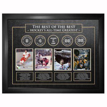 Frameworth Best of The Best Signed Howe/Orr/Gretzky/Lemieux