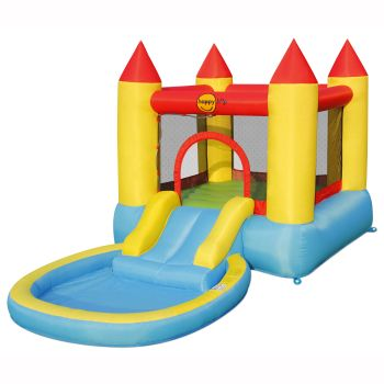 Happy Hop Bouncy Castle with Pool and Slide