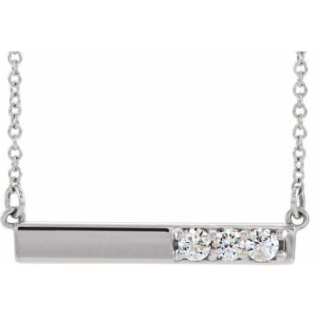 Karing 10KT Bar Pendant with Diamonds