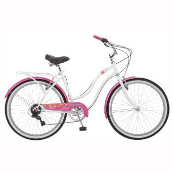 Kulana Hiku 7 Women's Crusier Bike  - 26'' - White/Pink