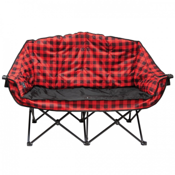 Kuma Bear Buddy Double Chair - Red/Black