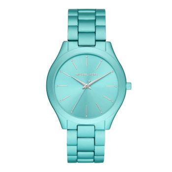 Michael Kors Oversized Slim Runway Aqua-Tone Aluminum Watch