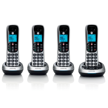 Motorola Digital Cordless Phone with Answering Machine - 4 Handsets
