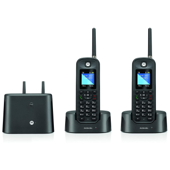Motorola Rugged Waterproof Long Range Cordless Phone - 2 Handset