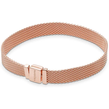 Pandora Reflexions Mesh Bracelet - Rose Gold - 7.5'' (19cm)