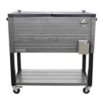 Permasteel 80-Quart Rustic Style Patio Cooler