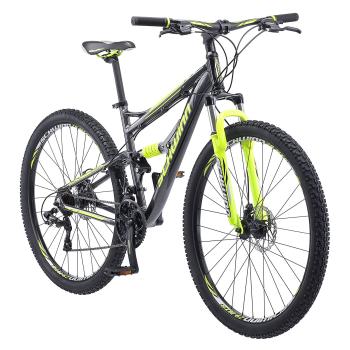 Schwinn Traxion 29'' Full-Suspension Mountain Bike - Matte Grey/Neon Green